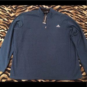 NWT Adidas Quarter Zip Jacket Blue Size 2XL